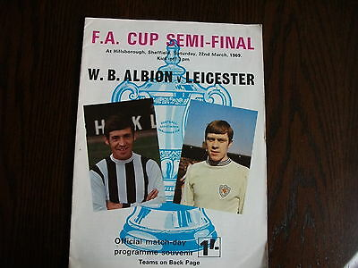 1968-1969 FA Cup semi final West Brom v Leicester City