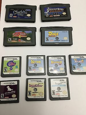 7 Nintendo Ds And 4 Game Boy Advance All Working.