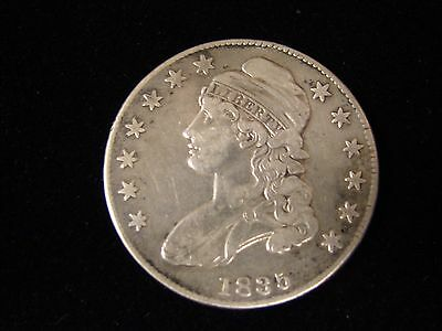 1835 BUST SILVER HALF DOLLAR - VF Capped Bust Lettered Edge 50c Coin