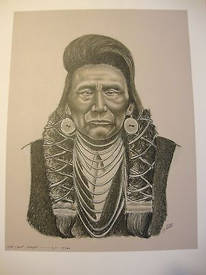 """Chief Joseph . by Native American Artist . Yatzie Dee """"Silver Eagle""""  #ab857"""