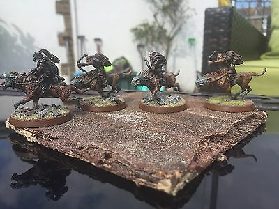 4 Professional Painted Warg Riders