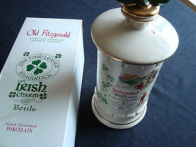 Old Fitzgerald Distillery 1977 Four Leaves Shamrock Decanter-Irish- Empty Bottle