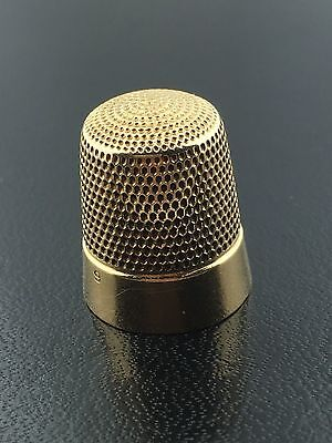 Antique 14k yellow gold thimble