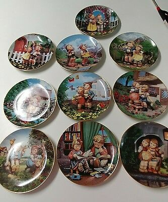 The M.I.Hummel Plate Collection Little Companions Set Of 10