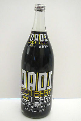 1979 DADS Root Beer 32 oz FULL Bottle - ACL Label