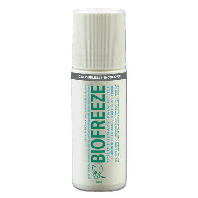 NEW BIOFREEZE ROLL-ON  3 OZ (89ml) + BONUS TRAVEL SIZE PACKETS (CANADIAN SELLER)
