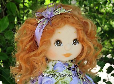 Beautiful Custom OOAK My Child Doll-with Wavy Golden Red Sewn-in Mohair