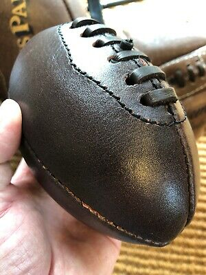 A Small Vintage Leather Rugby Ball Baby Gift Rugby Ball Gift