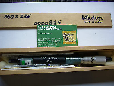 New Mitutoyo Internal Micrometer  200- 225         2172
