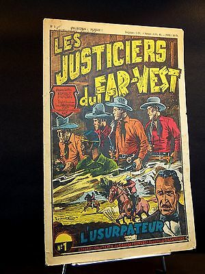 "Rarissimes n°1 2 3 Collection Hurrah ""Les justiciers du Far-West"" 09/1948 TBE"