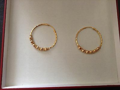 22 CT GOLD EARRINGS INDIAN SOLID GOLD 7.4gr