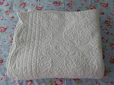 Laura Ashley White Quilted Throw