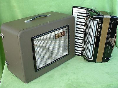 Hohner Bassophon Germany  Vintage Tube Elektro Röhren Bass Akkordeon Speaker Box