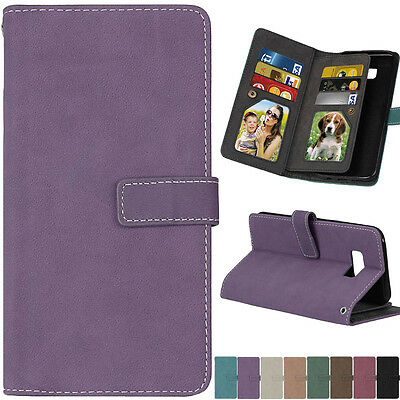 Luxury Flip Wallet Stand Card Slot PU Leather+TPU Cover Case For Samsung Huawei
