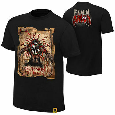 Finn Balor Official Genuine Wwe T Shirt Top Mens Large New Wrestling Black Nxt
