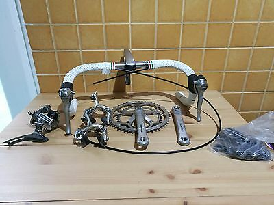 vintage Shimano Dura Ace 7400 group set 175mm 53-39 3ttt STI