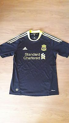 Liverpool third shirt kit jersey 2010/11 size medium M football soccer RARE!!!