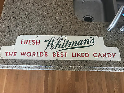 Original Whitmans Candy Sign