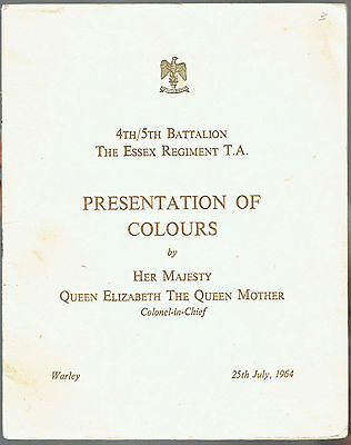 1964 4th/5th Battalion Essex Regiment T.A. Presentation of Colours by The Queen