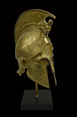 Greek Spartan Corinthian Bronze Helmet With Sphinx - Battle Scared