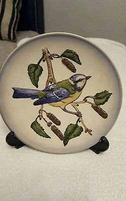 Goebel,Western Germany Porcelain plate,Blue tit mouse
