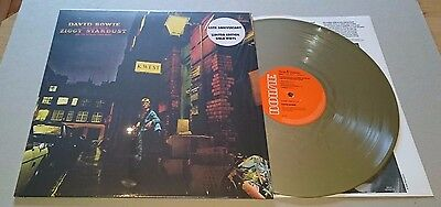 DAVID BOWIE Ziggy Stardust And The Spiders From Mars GOLD LP VINYL NEW SEALED