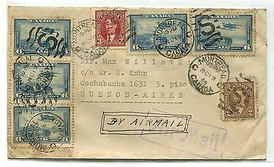 Canada To Argentina Airmail 1938 Cover # 5732