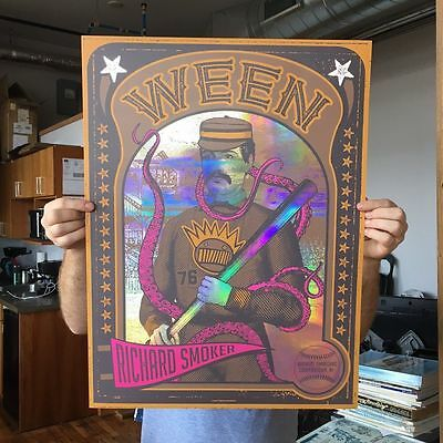 Ween Baseball Card Double Sided Poster Cooperstown Soldout Rainbow Foil Variant