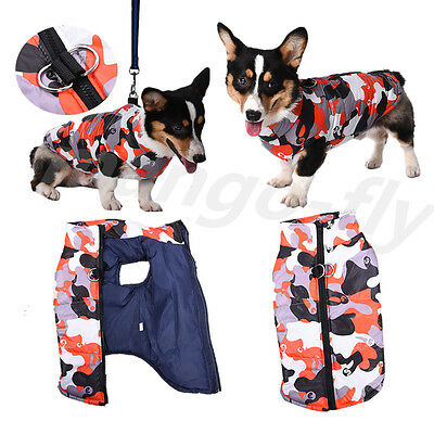 Winter Warm Dog Clothes Padded Cotton Coat Pet Vest Jacket for Dogs 6 Sizes
