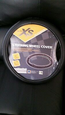 A brand new auto xs STEERING WHEEL COVER GLOVE UNIVERSAL 37-39CM