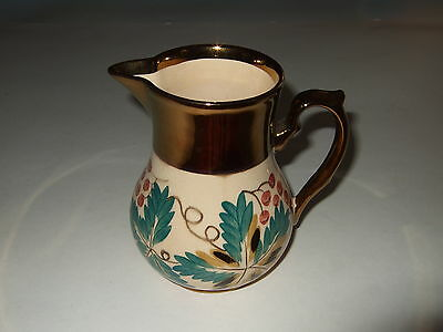 Vtg Antique Wade Harvest Ware Pitcher Gold Luster Banded England original PRETTY