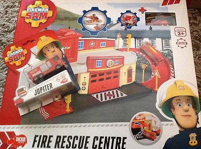 Fireman Sam Fire rescue Centre DieCast with Wallaby One Helicopter and Jupiter