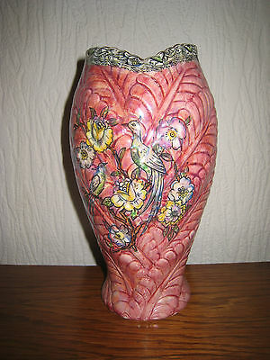 Arthur Wood Royal Bradwell Pink Lustre Vase Excellent Condition.