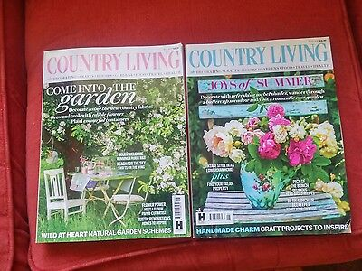 Country Living magazines ~ May & June  2017  ~ cooking ~ gardening etc