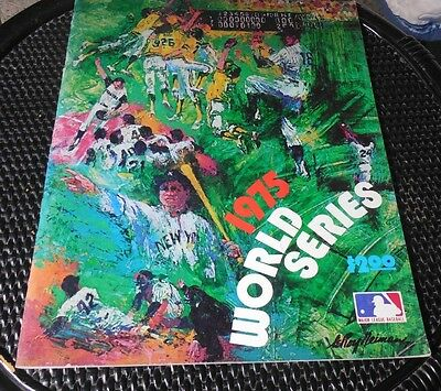 1975 World Series Souvenir Program Red Sox vs Cincinnati Reds