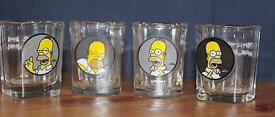 Homer Simpson 4 Shot Glass Set
