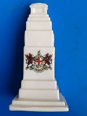 A Podmore China crested model of the Cenotaph