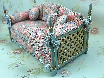 Vintage Joy Sawmill Miniature Dollhouse Couture Sofa French Country Cottage 1992