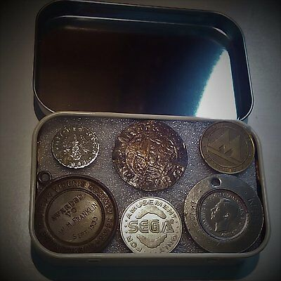 LOOK - Another Mixed Tin of 24 Coins, Jetons, Medals & Tokens.