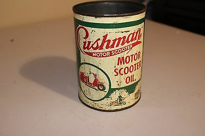 Vintage Original 1955 Cushman Motor Scooter Oil Can Good Condition