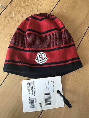Moncler Unisex Cotton Skull Cap Beanie Hat Italy One Size