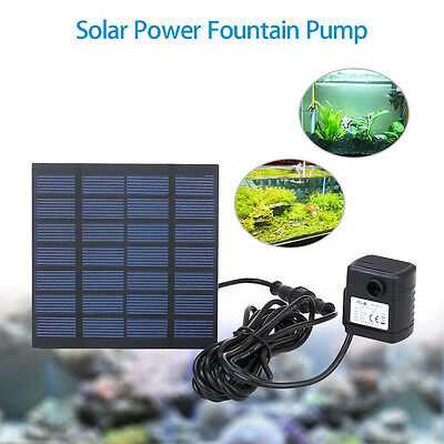 Solar DC Pump Fountain Water Panel Pond Brushless Motor Submersible For Garden