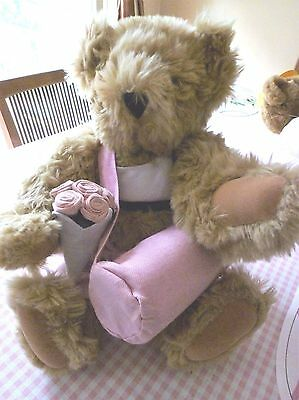 """Vermont 17"""" Light Brown Teddy Bear Dressed for Yoga with Yoga Mat"""