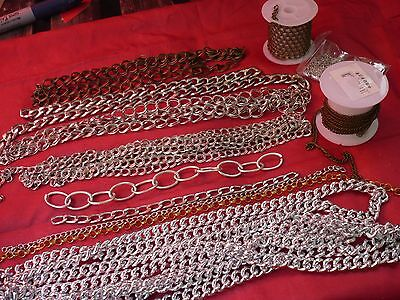 Lote Diy Bisutería Cadenas Variadas, Jewelry Lot Metallic Supplies Chains