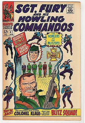 Sgt Fury #41 43 50 VG LOT (3) Ayers Severin Howling Commandos silver age 1967-68