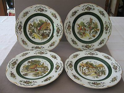 4 ASCOT SERVICE PLATES by WOOD & SONS ENGLAND MINT CONDITION