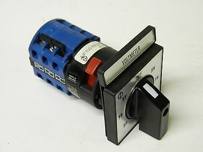 Kraus & naimer CA10 A007 Panel Mount voltmeter selector switch