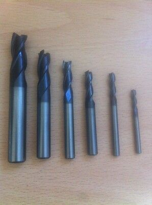 Used Set 3mm -10mm Europa Carbide cnc milling slotdrill endmill cutters