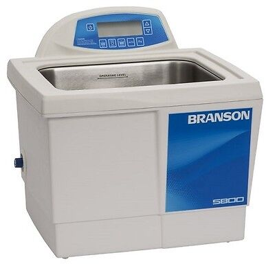 Branson 2.5 Gallon Ultrasonic Cleaner w/ Digital Timer Heater Degas Temp Monitor