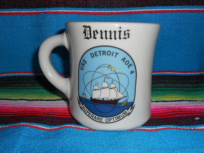 "COFFEE CUP / MUG USS DETROIT AOE 4 personalized "" DENNIS """